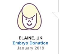 Elaine, UK, Embryo Donation, January 2019