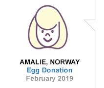 Amalie, Norway, Egg Donation, February 2019