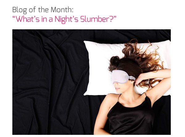 Blog of the Month: 'What's in a Night's Slumber?'